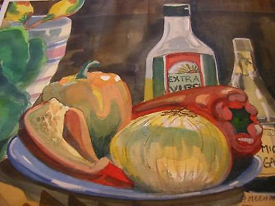 PEPPERS VEGETABLES KITCHEN Canvas Wall Art Picture Large SIZES  F34 MATAGA