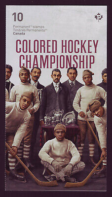 """2020 Black History Month Booklet, with 10 x """"P"""" Colored Hockey Championship MNH"""