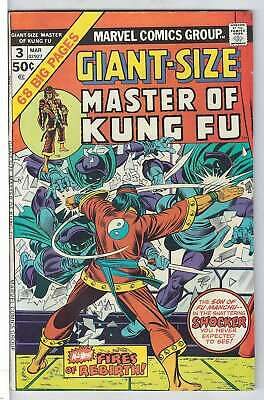 Giant-Size Master Of Kung Fu #3 ( Vryfn moins ( Vfn RS003 Marvel Comics Am