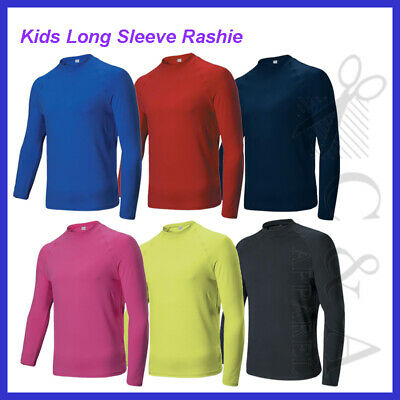 Kids Boys Girls Long Sleeve Rashie Perfect For Water Activites Sun Protection