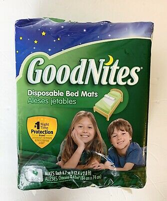 GoodNites 32519 Disposable Bed Mats - 9 Piece