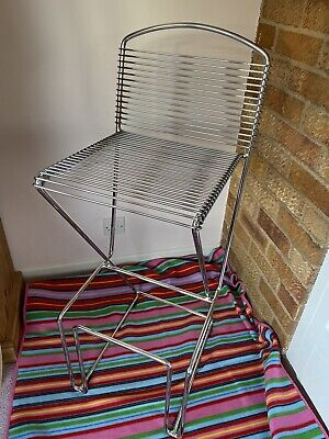 Vintage Mid Century Modern Chrome Bar Stool By Till Behrens For Schlubach