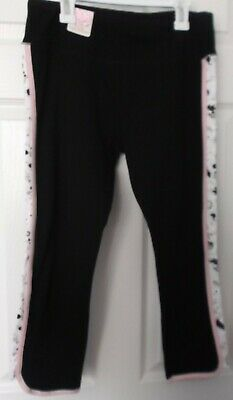 Girls' So Black & Pink Yoga Crop Legging - Size Medium - New With Tags