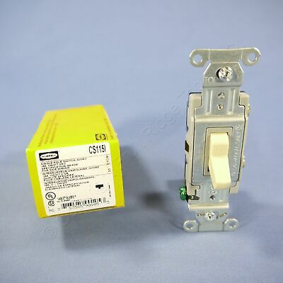 New Hubbell Bryant Ivory COMMERCIAL Toggle Wall Light Switch 15A 120/277V CS115I
