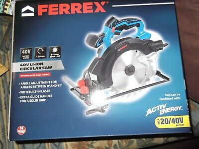 Ferrex 40V Cordless Circular Saw Active Energy Brand New Sealed Bare Unit Only