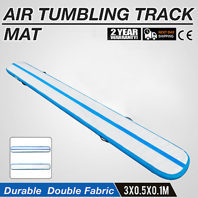 Air Track 10Ft Airtrack Inflatable Floor Tumbling Gymnastic Mat AirTrack Fitness