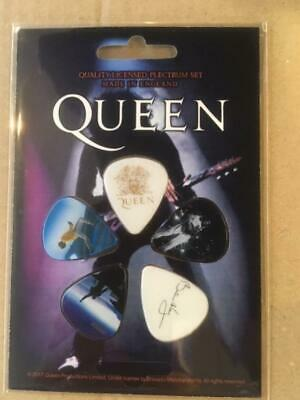 Queen  Freddie Mercury  Brian May    Guitar Pick Set  Incl 5 Picks