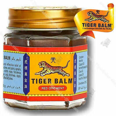 TIGER Red Balm Thai Herb Massage Ointment Relief Muscle Ache Pain 30 g.