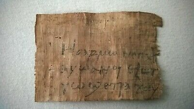 Nice interesting old papyrus with coptic writting about 100x70 mm