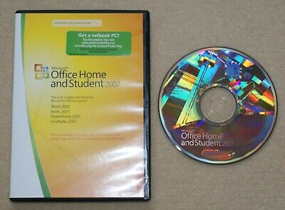 Microsoft Office Home and Student 2007 - Word, Excel, PowerPoint, OneNote