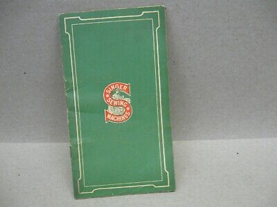 Vtg 1921 Singer Sewing Machine Model Cabinet Treadle Style Pictures Book Flaws