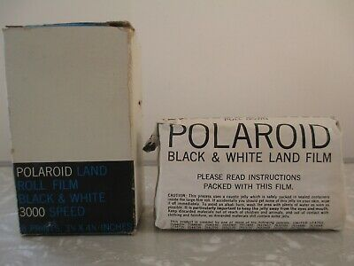 Vintage Black & White Polaroid 3000 Speed Land Picture Roll Type 47 Film 8 print