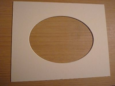"""10"""" x 8"""" White Photo mount. Oval aperture  for 7"""" x 5"""" photo"""