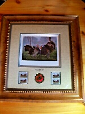 Nwtf 2002 Stamp Print/ 4 2002 Stamps Framed ( The Warrior) By Artist Crowe
