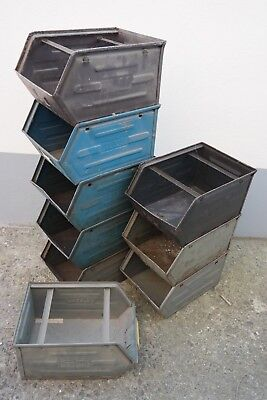 Old Storage Metal Industrial Design Shelf Loft Design Metal Box Stacking