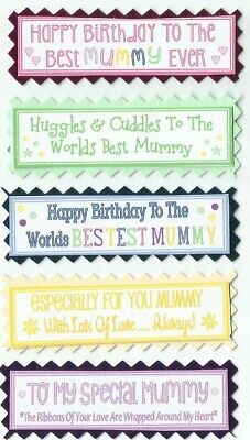 5 BEST WISHES Mix Occasions Greeting Card Craft Sentiment Banner Tags BUY2G1FREE