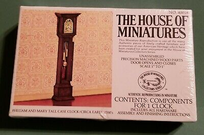 House of Miniatures no. 40018 William and Mary Tall Case Clock