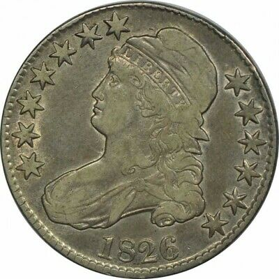1826 CAPPED BUST HALF DOLLAR O-105-HIGH GRADE CIRC-GREAT COLLECTOR COIN!-b108