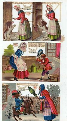 Lot/14 Old Mother Hubbard Victorian Die Cut Scraps Ld&Co Nursery Rhyme Ephemera