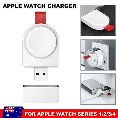 For Apple Watch Series iWatch 4321 Portable USB Charger Magnetic Charging Pad AU
