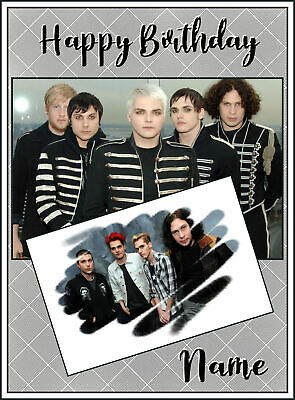 plus envelope. 5x7 inches My Chemical Romance birthday card Personalised