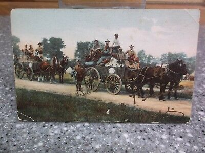 Pine Plains N.Y. post card old possible recruits for fort drum watertown