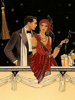 ART DECO 1920s 1930s canvas picture print 20 inch x 30 inch stretched over frame