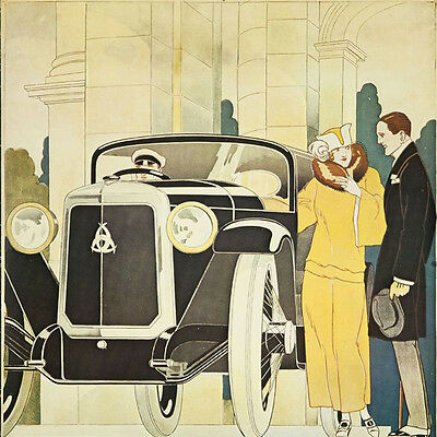 ART DECO 1920s 1930s canvas  picture print 12 inch x12 inch stretched over frame