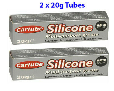 2 x Carlube SILICONE Multi Purpose Grease 20g Water Resistant