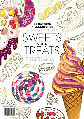 Harmony of Colour Series Sweets & Treats Adult Colouring Issue 68 Magazine W18