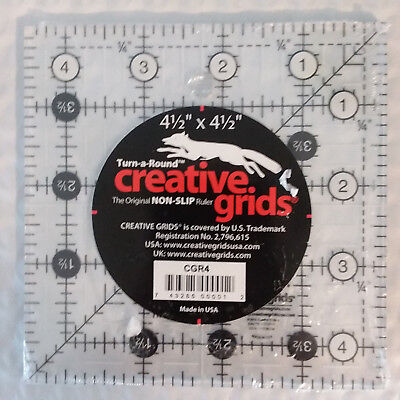 "8.5/"" Square Creative Grids Quilt Ruler Gripper Dot NIP"