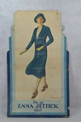 store display 1930 lady fashion Deco Jettick shoe sign stand original antique