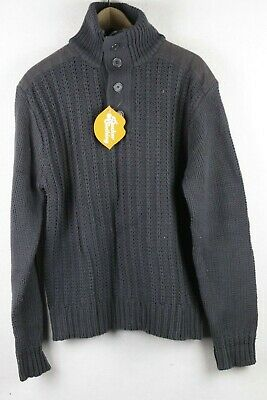VINTAGE AZTEC Mens SNOWMAN CHRISTMAS Jumper CABLE KNITTED Sweater SLIM Grey P70