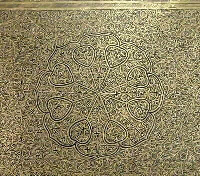"""Antique Islamic Persian Engraved Brass Tray 24"""" 61cm  -  58816"""