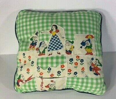 Vintage Snow White and The Seven Dwarfs Tooth Fairy Pillow-Hand Made
