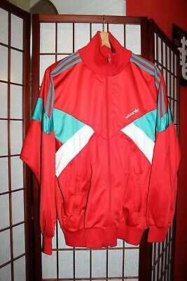 Adidas retro vintage jacket  Reed color  made in Philippines  ALY
