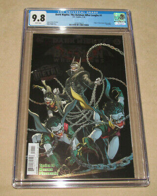 The Batman Who Laughs #1 CGC 9.8 - Dark Nights Metal - Foil Cover - DC 2018 -NEW