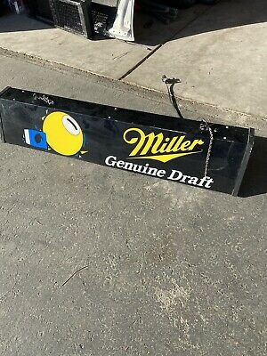 Miller Genuine Draft Beer Pool Table Lighted Sign Bar Pub Man Cave