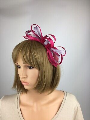 Pink and Lilac Fascinator Hatinator Mother Bride Occasion Wedding Ascot Races