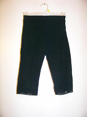 Girls Xhilaration Black Cropped Leggings Size 7-8 EUC!!!
