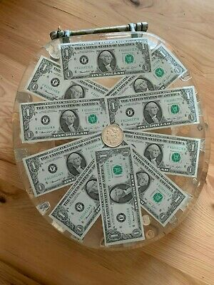 Standard Round DOLLARS /& COINS MONEY LUCITE RESIN TOILET SEAT REAL U.S