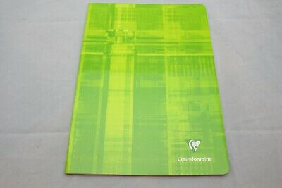 "Clairefontaine Staplebound Notebook  8"" X 11"" French Ruled Green"