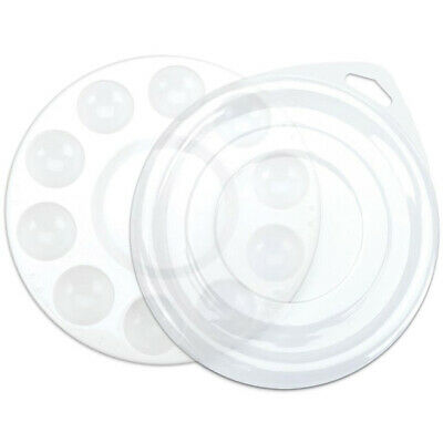 Paint Palette – 10 Well Round Plastic Palette (with lid) - 2wards Polymer Cla...