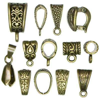 Jewellery Basics – Mixed Bails, Antique Gold (13 pieces) - 2wards Polymer Cla...