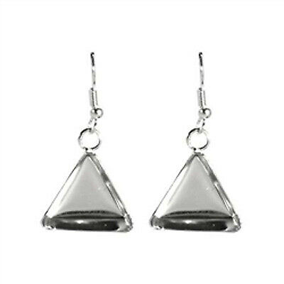 Lisa Pavelka Silver Earrings – Triangle - 2wards Polymer Clay & Crafts