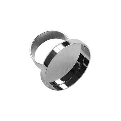 Lisa Pavelka Silver Ring Bezel – Round - 2wards Polymer Clay & Crafts
