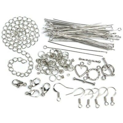 Jewellery Basics – Mixed Findings Starter Pack – Silver (145 pieces) - 2wards...