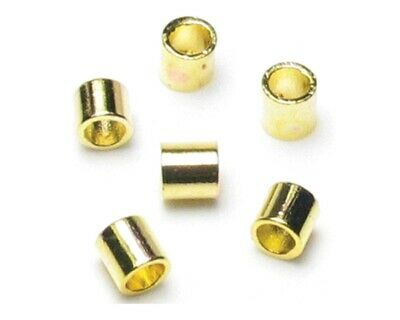 Jewellery Basics – Crimp Tubes, 2mm, Gold - 2wards Polymer Clay & Crafts