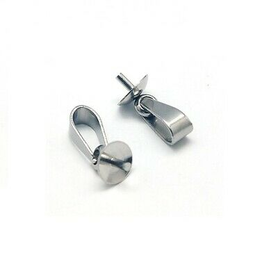 Stainless Steel Pinch Bail with Eye Pin Peg (10/pkg) - 2wards Polymer Clay & ...