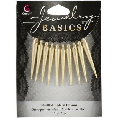 Gold Spike Charms - 35mm (11/Pkg) - 2wards Polymer Clay & Crafts